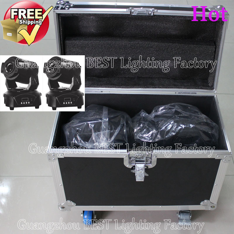 with dual flight case for 2pcs 90w spot led moving head light led 90w spot stage dj movinghead equipment