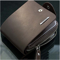Men Leather ID Credit Card Holder Wallets Dollars Price Purse Zipper Clutch Billfold Porte Carte Credit Organizer Purse