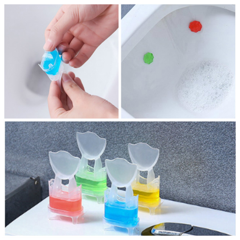 100% Quality 3pcs Toilet Flowering New Toilet Fragrance Bean Deodorant Toilet Deodorant Bathroom Restroom Cleaner Bathroom Toilet Accessories