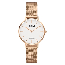 DOM Sliver Mesh Stainless Steel Watches Women Top Brand Luxury Casual Clock Ladies Wrist Watch Relogio Feminino G-36D-1M dom sliver mesh stainless steel watches women top brand luxury casual clock ladies wrist watch relogio feminino g 36d 1m