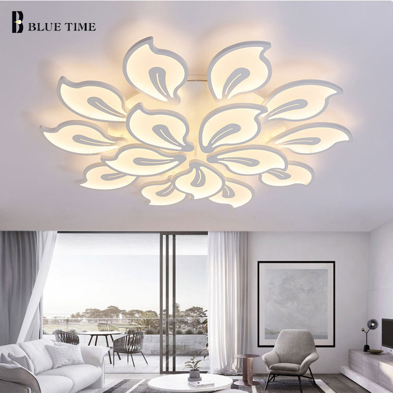 White and Black Acrylic Modern Led Ceiling Lights For living Room Bedroom studyroom White Modern lamp White CeilingLamp Fixtures modern multicolour crystal ceiling lights for living room luminarias led crystal ceiling lamp fixtures for bedroom e14 lighting