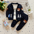 Autumn with children with the 1-2-3-4 years old cotton corduroy three-piece virgin suit clothes + pants + T-shirt