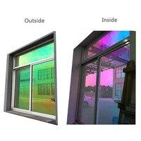 Decorative Privacy Self Adhesive Window Film Chameleon Film On The Window Rainbow Laser Stickers Party Decor 1.37m x 30m