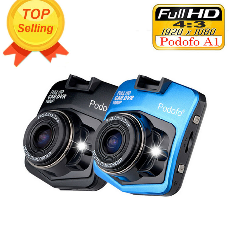 2017 Nuevo original podofo A1 mini coche DVR Cámara dashcam Full HD 1080 p video registrator Recorder g-sensor night Vision Dash cam