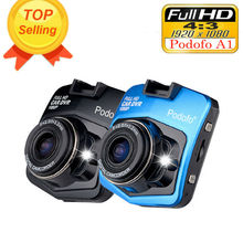 Original Podofo A1 Mini Cámara Del Coche DVR Dashcam Full HD 1080 P Grabador de Vídeo Registrator g-sensor de Visión Nocturna Dash Cam Blackbox
