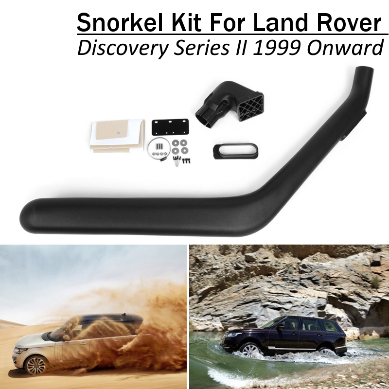 Car Snorkel Kit For Land Rover Discovery Series II 1999 Onward ABS Plastic Air Intakes Parts SetCar Snorkel Kit For Land Rover Discovery Series II 1999 Onward ABS Plastic Air Intakes Parts Set