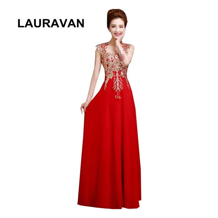 Robes de soirée longues champagne modestes en mousseline de soie robe rouge bleu royal femmes robes robe chérie 2019 robe