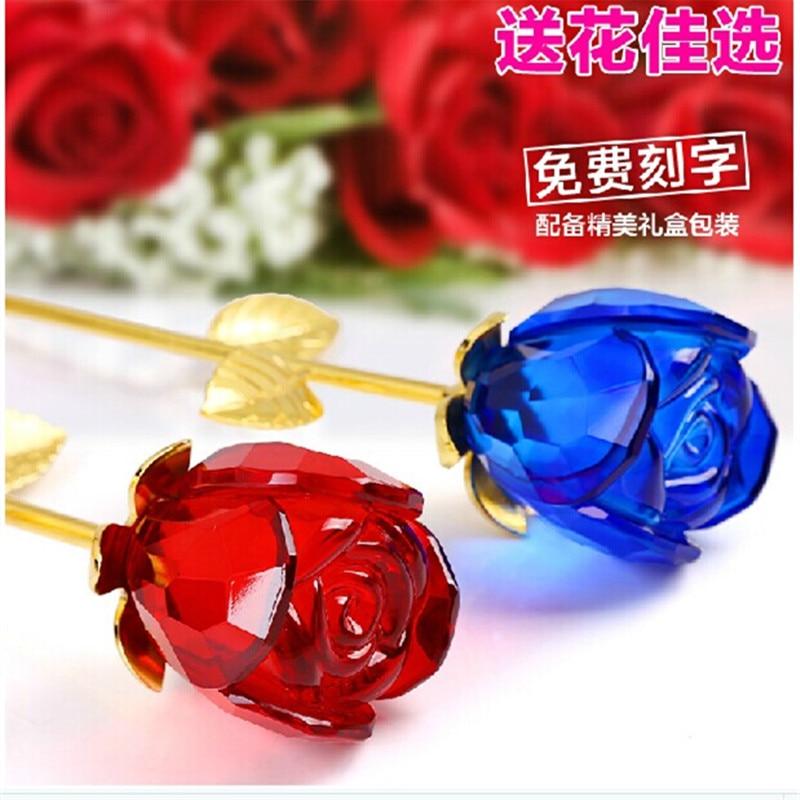 Online Shop Valentines Day Rose Crystal Wedding Anniversary