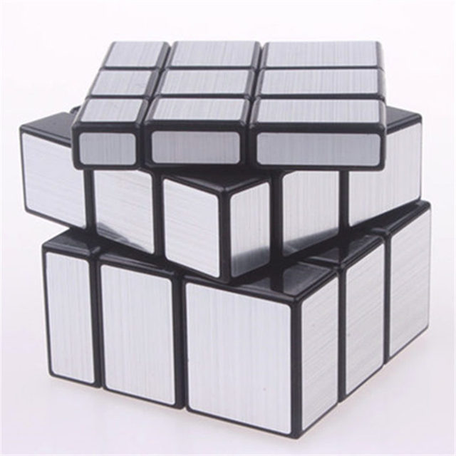 Original magic speed  mirror cube sticker block Puzzle Cast Coated Cube professional learning education toys for children 2