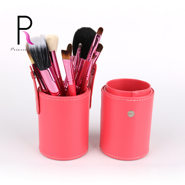 Princesa Rosa Marca Cepillo De Viaje Conjunto con Portavasos 12 unids Componen Cepillos Cepillos Del Maquillaje Brochas maquillaje Maquillage Pinceaux
