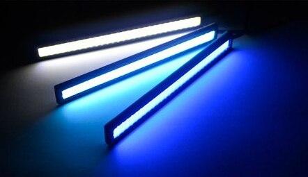 1pair/lot LED Daytime Running Light Ultra-thin12w COB Chip 17cm LED DRL Fog car day running LED lights,car led black shell