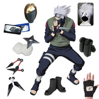 Anime Naruto Hatake Kakashi Cosplay Costume Full Set Christmas Costumes with Wig