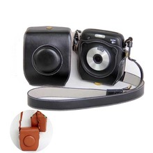 Wholesale prices PU Leather bag Case with mini pouch shoulder strap For Fuji Fujifilm Instax SQ 10 SQ10 Digital Camera Bag