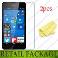 For Nokia Microsoft Lumia 650 screen protector film guard,with retail package,free shipping,(2 film+2 cloth),high quality