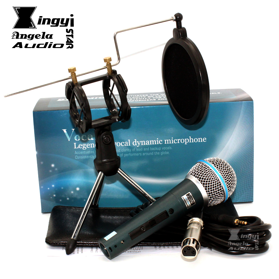 Hot Sale Professional Switch Dynamic Wired Microphone Stand Desktop Mic Holder For Recording Tripod Windscreen Pop Filter Cover Beta 58a Karaoke