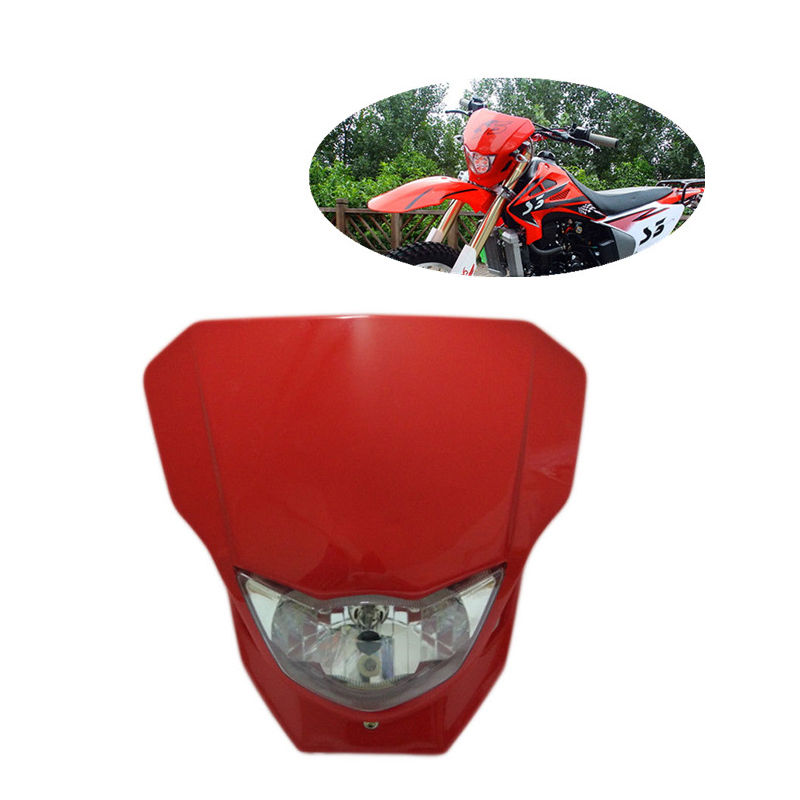 Universal Motorcycle 35W Headlight Fairing Red Motocross