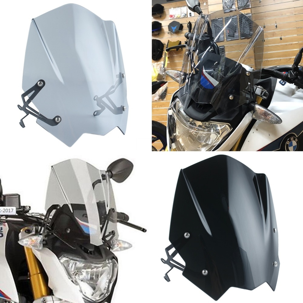 ABS Motorcycle Windscreen Windshield Cover for 2016-2018 BMW G310R 2017 G 310R 310 R Wind Shield deflector with Mounting Bracket