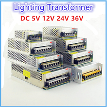 Драйвер светодиодного источника питания для светодиодной ленты, адаптер трансформатор постоянного тока 5 В, 12 В, 24 В, 1 А-60 А