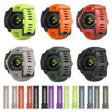 JKER 22mm bracelet en Silicone à dégagement rapide bracelet de montre de remplacement pour Garmin Instinct montre Wirstband