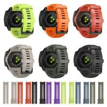 JKER 22mm pasek silikonowy wymiana Quick Release Watch Band dla Garmin Instinct Watch Wirstband