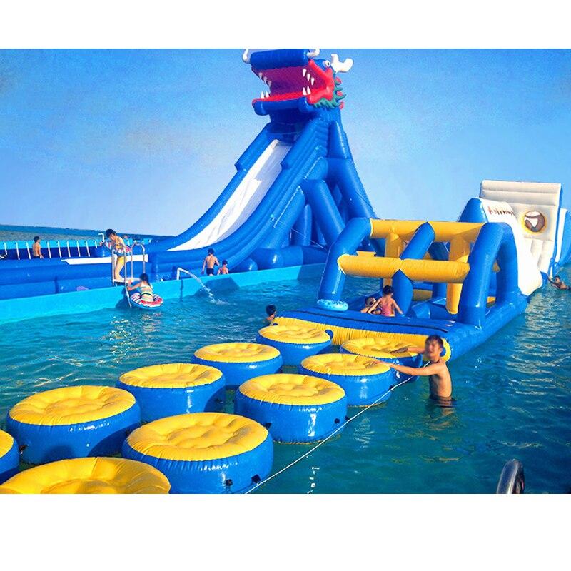 Amusement park games outdoor Jumping water slide giant ...