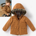 2016 Brand Children Coat Jacket for Kids Baby Coats Cotton-Padded Thicken Boy Winter Clothing Snow Wear Children Outerwear