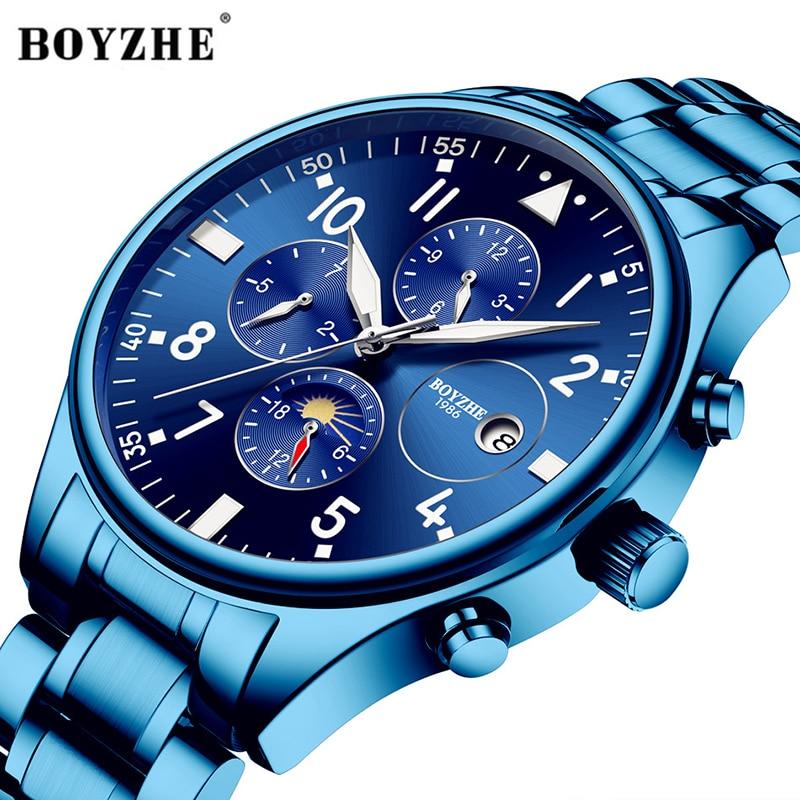 BOYZHE cilvēka automātiskā mehāniskā pulksteņa modes zīmola - Vīriešu pulksteņi