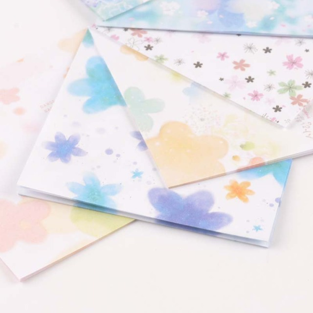 20 Sheets Mix Color DIY Kids Folded Paper Square Paper Craft Origami Folding Paper Flower Patterned Papers c2516-12
