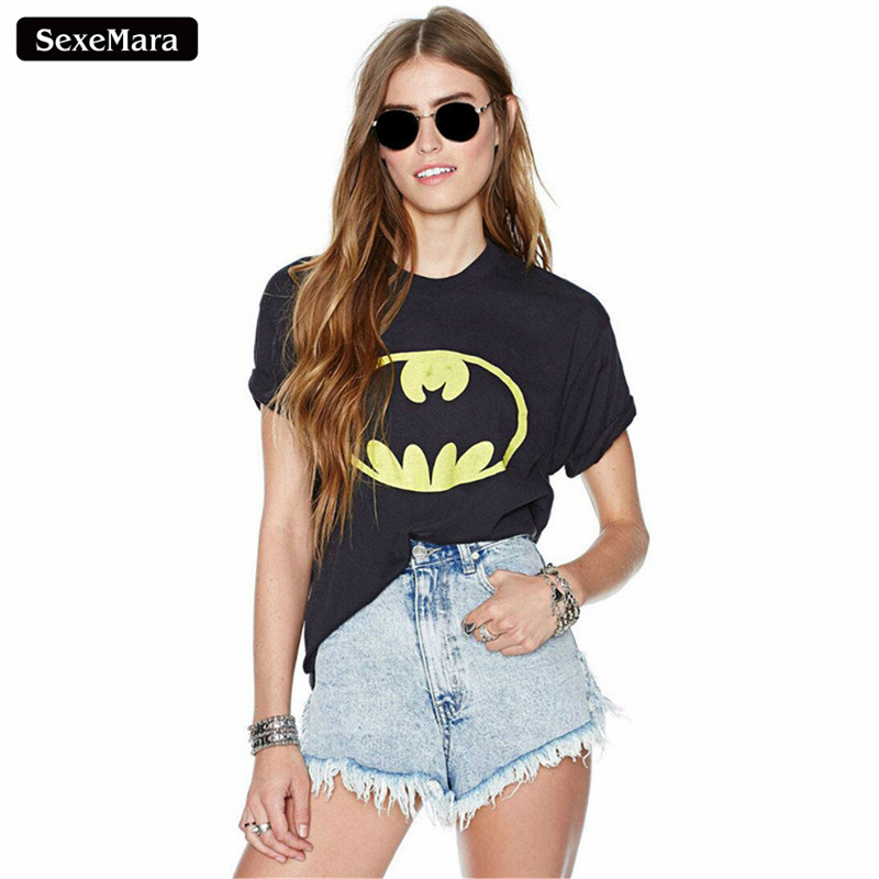 SexeMara 2018 Hot Koop Batman Super Hero Gedrukt T-shirts Vrouwen - Dameskleding