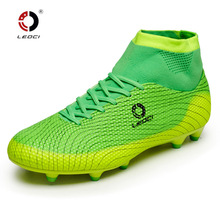 Leoci Tf Football Boots Kids & Adult Professional Training Soccer Shoes Sneakers Chaussures Football Cheville Haute Eur33-45