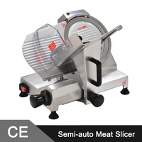 195mm Blade Commercial Electric Stainless Steel Semi Auto Meat Slicer Meat Slicer Machine Meat Slicer