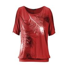 Women's Boho O-Neck Style Printed T-Shirt