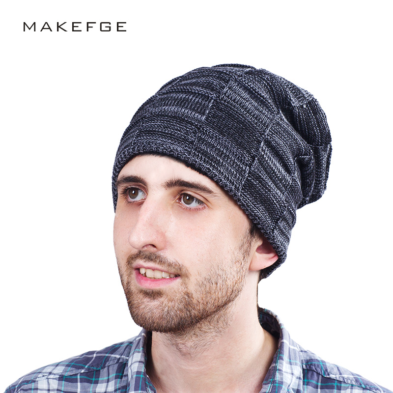 Brand Winter Beanies Men Winter Hats For Men Women Knitted Hat Bonnet Fashion Caps Skullies Black Mask  Warm Hat 2017 Plaid aetrue beanies knitted hat men winter hats for men women fashion skullies beaines bonnet brand mask casual soft knit caps hat