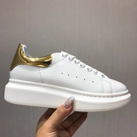 Shiny Patchwork Women Casual Shoes Platform Genuine Leather Woman Tennis Shoes Lace up Spring Autumn Ladies Sneakers Plus Size