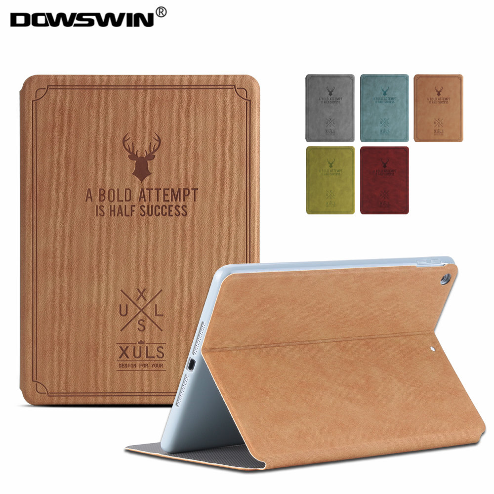 DOWSWIN Case For iPad Mini 2 3 1 PU Leather Case TPU Soft Back Cover Animal Prints Folio Shell For iPad Mini Flip Stand Case cover case for apple ipad mini 1 2 3 tpu silicone back cover for ipad mini 4 flip stand protect tablet case capa para film pen