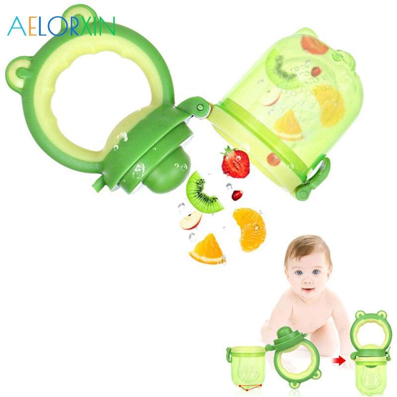 1Pcs Cute Frog Nipples Food Nibbler Baby Pacifiers Nibler Nipple Pacifiers For Baby Fruit Feeder Nipples Baby Bottle Pacifier