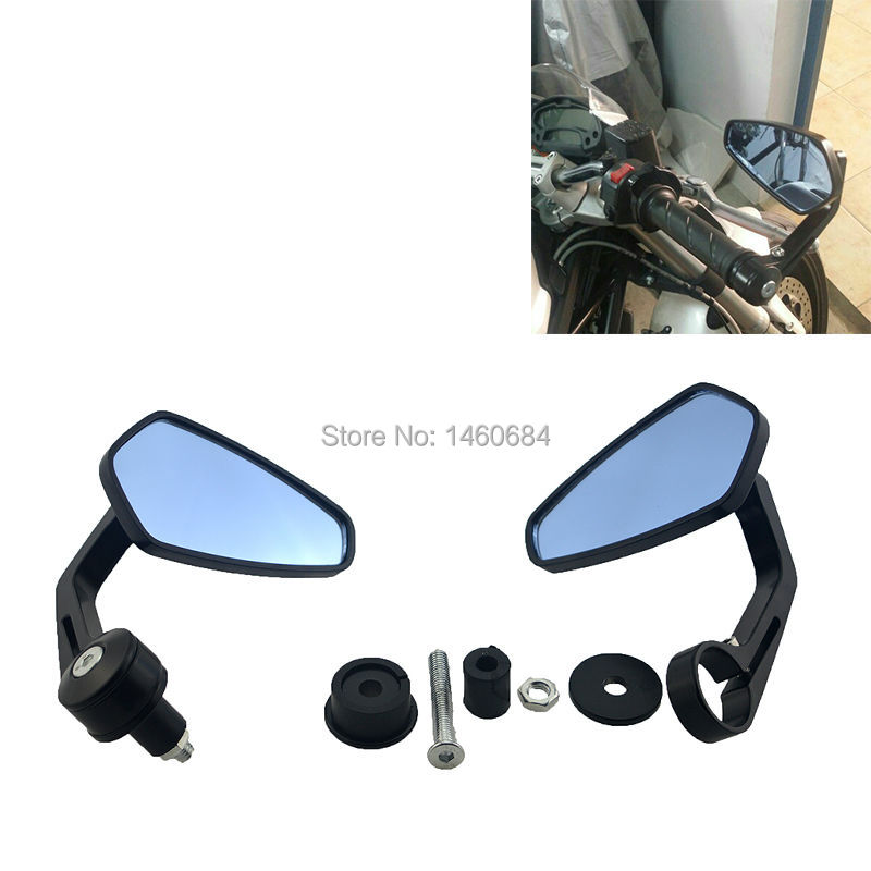"MOTORCYCLE MIRRORS ACCESSORIES ALUMINUM 7/8"" HANDLEBAR END REAR VIEW MIRROR FOR <font><b>YAMAHA</b></font> FZ1 FZ6 FZ8 FOR TRIUMPH STREET TRIPLE"