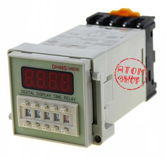 12V 24V 110V 220V AC Digital Timer Relay On Delay 8 Pins SPDT DH48S-1Z Reset/Pause Function dh48s 2z dh48s 0 01s 99h99m ac dc 12v 24v digital programmable time relay switch timer on delay 8 pins spdt 2 groups contacts