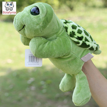 Infant Children Hand Puppet Sea turtle with foot kids baby plush Stuffed Toy Puppets toys Christmas birthday gift