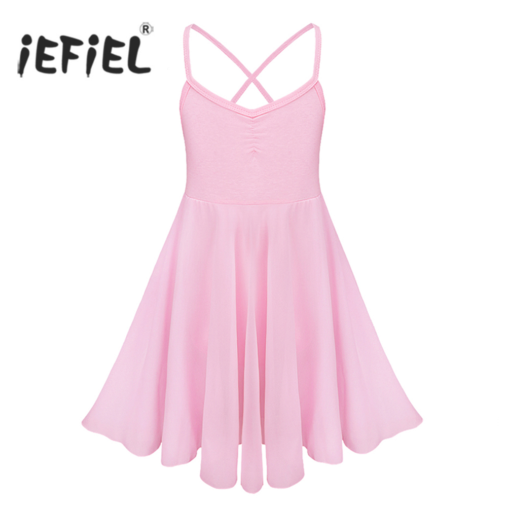 iEFiEL Children Ballet Dance Class Dresses Dress Gymnastics Leotard Girls Sleeveless Ballet Tutu Dress Kids Dancing Costumes