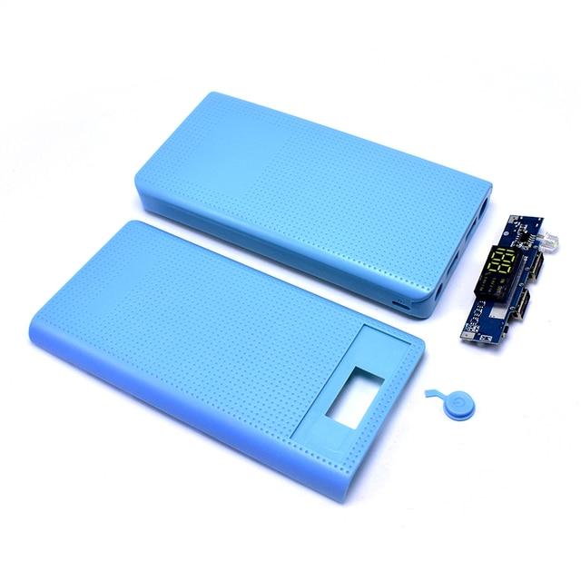 FGHFG 5 V 2.1A 2 USB 7X18650 DIY Điện Thoại Di Động Ngân Hàng Trường Hợp Kit Pin Sạc Hộp Trường Hợp