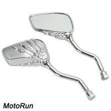 Skull Pour endoscopic Skeleton Mirrors For Honda VT Shadow Spirit Velorex Deluxe 600 750