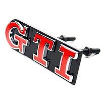 1Set GTI Front Grille Emblem Metal Car Head Grill Badge Sticker For Volkswagen VW Polo Golf