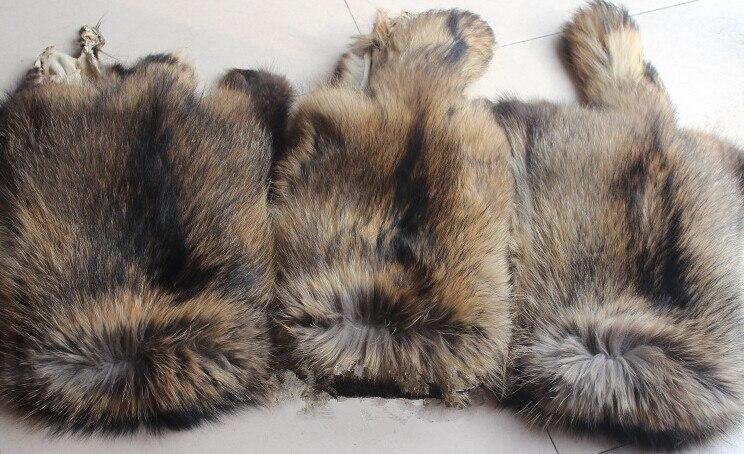 Peau de fourrure de raton laveur couleur naturelle pas cher - 6