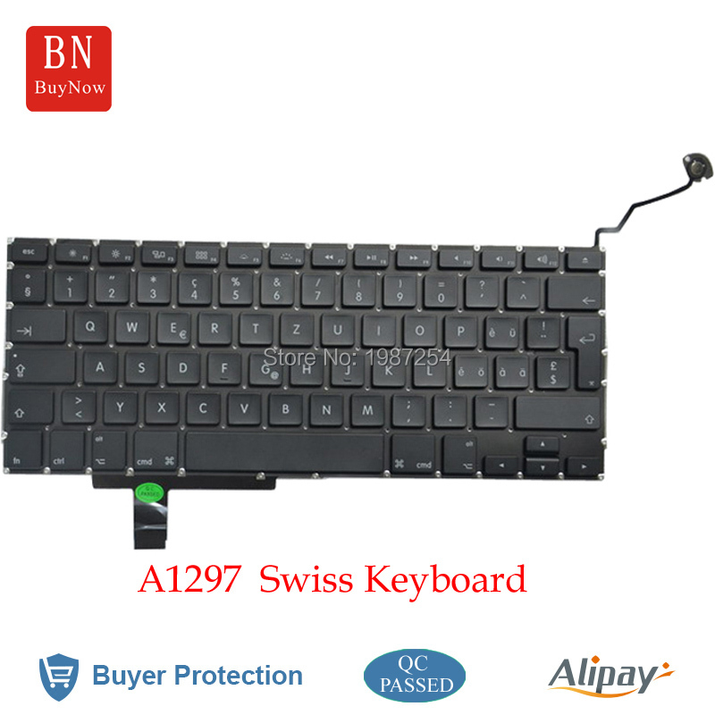Swiss Keyboards For Macbook Pro a1297 Keyboard Replacement 2009-2011