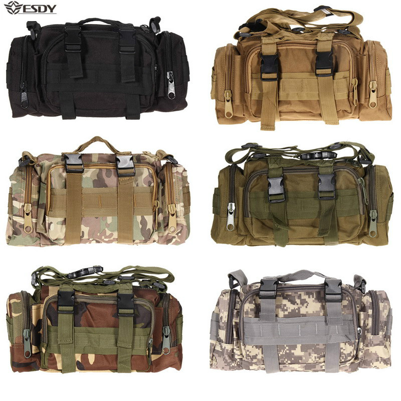 Hiking Outdoor Waist Bag 600D Waterproof Oxford Climbing Shoulder Bags Military Tactical Fishing Camping Pouch Bag Mochila Bolsa