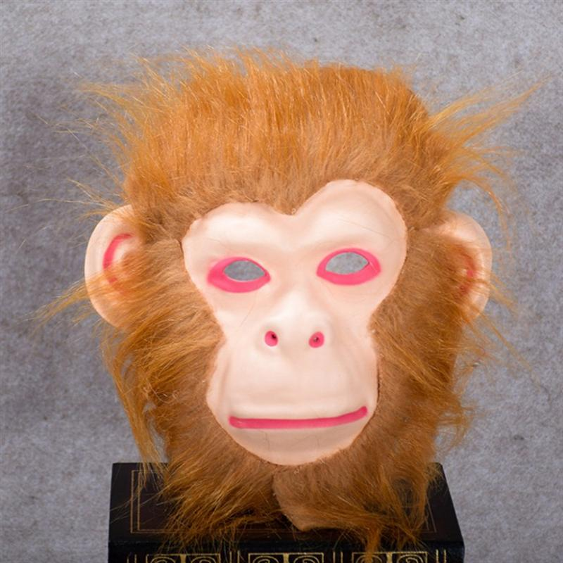 Halloween Horrible Toothy Free Size Realistic Scary Monkey Party Props Cosplay Costumes Masquerade Supplies