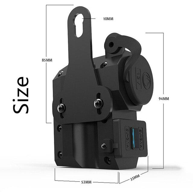 Chargeur USB DC5V 2 et interrupteur | Prise allume-cigare de moto, voltmètre + interrupteur 2.1A
