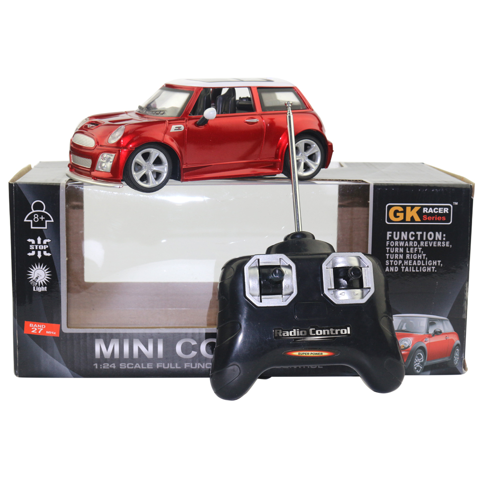 licensed 1 24 rc car model for mini cooper remote control radio control racing car kids toys for. Black Bedroom Furniture Sets. Home Design Ideas