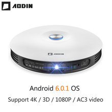 AODIN M18 LED mini projektor DLP 3D Pocket projektor Android HDMI 1G + 16G házimozi projektor HD 1080P 4K hordozható kivetítő